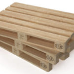 3D Render of stacked EPAL Stamped Euro Pallets